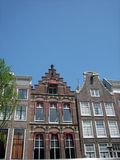Closeup of Houses in Amsterdam Stock Photography