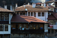 Closeup Houses of Asenov District Royalty Free Stock Photography