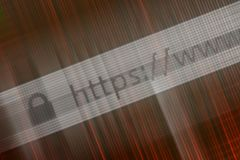 Closeup of Http Address in Web Browser in Shades of red. Http Address in Web Browser in Shades of red Stock Photography