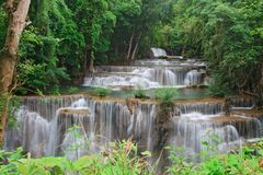 Closeup Huay Mae Khamin Waterfall Royalty Free Stock Photo