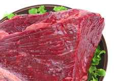 Closeup huge uncooked meat Royalty Free Stock Photography