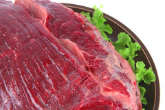 Closeup huge uncooked meat Royalty Free Stock Image