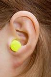 Closeup of a human ear. Close up of human ear royalty free stock photos