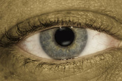 Closeup of human eye Stock Photos