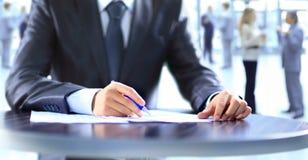 Closeup of human hand writing Stock Photos