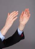 Closeup of human hands applauding Royalty Free Stock Photography