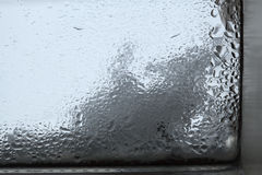 Closeup of humidity at a window Stock Photography