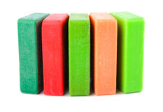 Closeup of hygiene colored soap Royalty Free Stock Photos