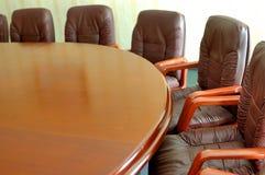 Closeup i konferenslokal Fotografering för Bildbyråer