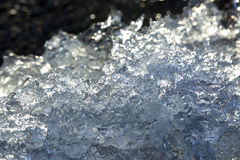 Closeup of an ice block at a glacier lagoon in Iceland Stock Photo