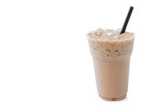 Closeup ice of coffee on white background, food and drink concep Royalty Free Stock Photo