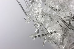 Closeup of ice crystals Stock Image