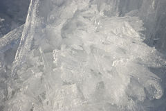 Closeup of ice crystals with very shallow Stock Images