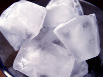Closeup of Ice Cubes royalty free stock image