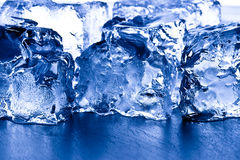 Closeup ice cubes Stock Images