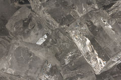 Closeup of ice cubes Stock Photos
