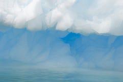 Closeup of iceberg in Antarctic ocean stock image