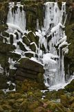 Closeup of iced waterfall in Kassel, Germany Royalty Free Stock Photography