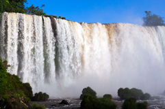Closeup Iguassu Falls Stock Photo