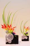 Closeup of Ikebana. Beautiful couple of flower arrangements Royalty Free Stock Images