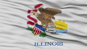 Closeup Illinois Flag, USA state Stock Photo