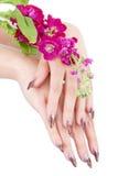 Closeup image of beautiful nails Stock Images