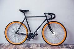 Closeup image of a bicycle. At studio stock image