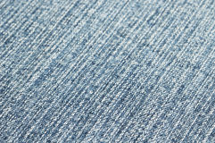 Closeup image of blue fabric Royalty Free Stock Images