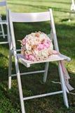 Closeup image of a bridal`s bouquette Stock Image