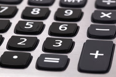 Closeup image of calculator. Keyboard Stock Images