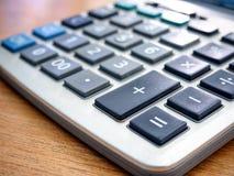Closeup image of a calculator Stock Photos