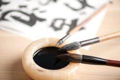 Closeup image of calligraphy tools Stock Photos