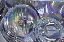 Closeup image of a car head lamp Royalty Free Stock Photography