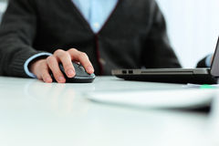 Closeup image of a casual businessman working Stock Image