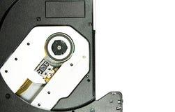 Closeup image CDRom / DVD Rom reader. Background stock image