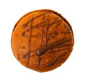 Closeup image of chocolate cookie isolated Stock Images