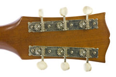 Closeup image of classical guitar tuners Royalty Free Stock Images