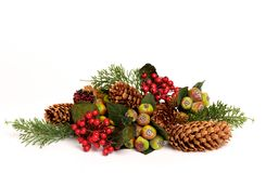 Closeup image of a colorful christmas arrangement Stock Photo