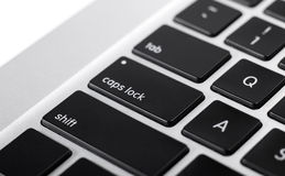 Closeup Image of Laptop keyboard Stock Photos
