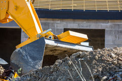 Closeup image of a construction site excavator Royalty Free Stock Images