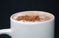 Closeup image of cup of cappuccino Stock Images