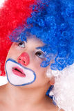 Closeup image of the cute little clown boy Stock Photo