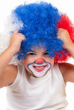 Closeup image of the cute little clown boy Royalty Free Stock Photography
