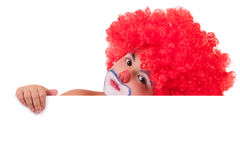 Closeup image of the cute little clown boy Royalty Free Stock Image
