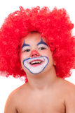 Closeup image of the cute little clown boy Royalty Free Stock Photos
