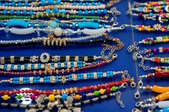 Close up Indian souvenirs and beads Stock Images