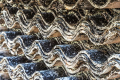 Closeup image of dirty old tile stack Stock Photography