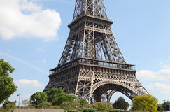 Closeup image of Eiffel Tower, Paris, France Royalty Free Stock Images
