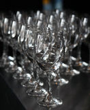 Closeup image of empty stemware Royalty Free Stock Images