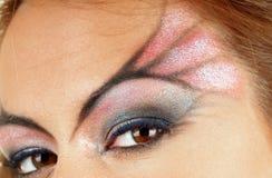 Closeup image of a face makeup Royalty Free Stock Photos